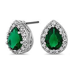 Jon Richard - Green peardrop earrings