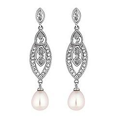 Alan Hannah Devoted - Designer pearl art deco earrings