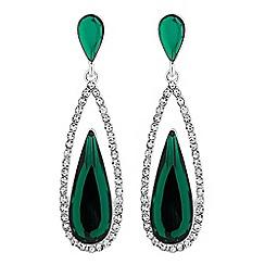 Jon Richard - Crystal surround peardrop earrings