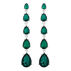 Jon Richard - Graduated crystal peardrop earrings