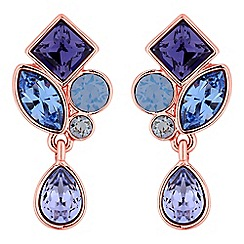 Jon Richard - Crystal cluster drop earrings created with swarovski crystals