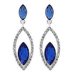 Jon Richard - Diamante open navette drop earrings