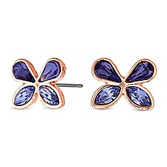 Jon Richard - Butterfly stud earrings created with swarovski crystals