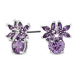 Jon Richard - Cubic zirconia cluster stud earrings