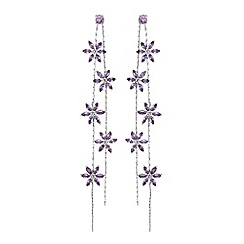 Jon Richard - Floral linear drop earrings