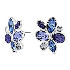 Jon Richard - Floral cluster earrings created with swarovski crystals