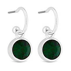 Jon Richard - Crystal circle drop earrings