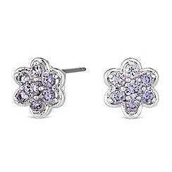 Jon Richard - Cubic zirconia flower stud earrings