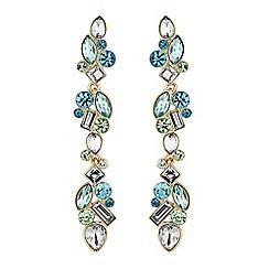Jon Richard - Tonal green crystal drop earrings