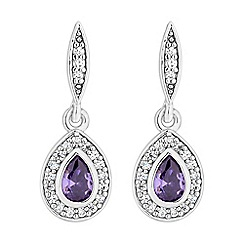 Jon Richard - Cubic zirconia peardrop earrings