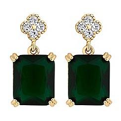 Jon Richard - Cubic zirconia square drop earrings