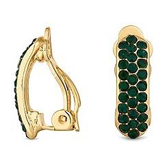 Jon Richard - Crystal encrusted hoop clip on earrings