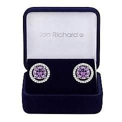 Jon Richard - Cubic zirconia solitaire stud earrings