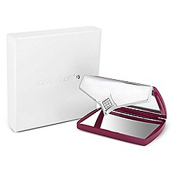 Jon Richard - Pink crystal envelope compact mirror MADE WITH SWAROVSKI ELEMENTS
