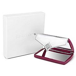 Jon Richard - Pink crystal envelope compact mirror MADE WITH SWAROVSKI ELEMENTS