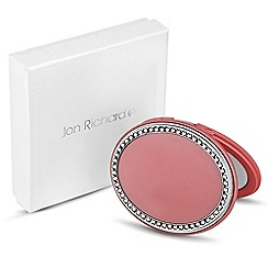 Jon Richard - Pink oval crystal surround compact mirror MADE WITH SWAROVSKI ELEMENTS