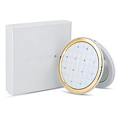 Jon Richard - Gold surround crystal quilted compact mirror MADE WITH SWAROVSKI ELEMENTS