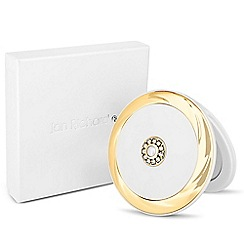Jon Richard - Pearl and crystal round compact mirror MADE WITH SWAROVSKI ELEMENTS