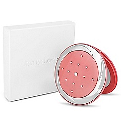 Jon Richard - Crystal embellished pink compact mirror MADE WITH SWAROVSKI ELEMENTS