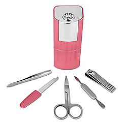 Jon Richard - Pink crystal manicure tube set MADE WITH SWAROVSKI ELEMENTS