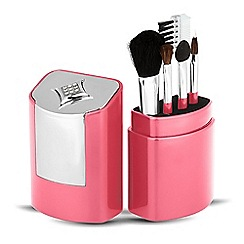 Jon Richard - Pink crystal brush set 'Made with swarovski elements'
