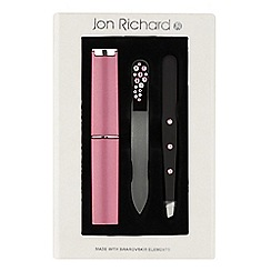 Jon Richard - Pink crystal nail and tweezers set MADE WITH SWAROVSKI ELEMENTS