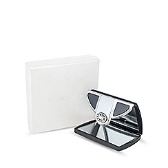 Jon Richard - Gunmetal envelope compact mirror MADE WITH SWAROVSKI CRYSTALS