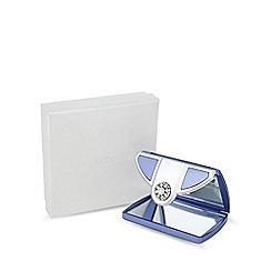 Jon Richard - Lilac pearl envelope compact mirror MADE WITH SWAROVSKI CRYSTALS