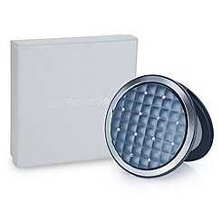 Jon Richard - Navy quilted round compact mirror MADE WITH SWAROVSKI CRYSTALS