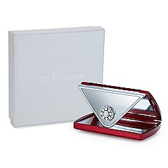 Jon Richard - Red crystal envelope compact mirror MADE WITH SWAROVSKI CRYSTALS