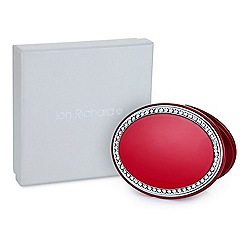 Jon Richard - Red crystal oval compact mirror MADE WITH SWAROVSKI CRYSTALS
