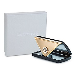 Jon Richard - Black crystal envelope compact mirror MADE WITH SWAROVSKI CRYSTALS