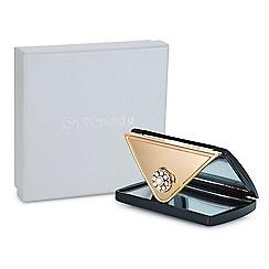 Jon Richard - Black crystal envelope compact mirror MADE WITH SWAROVSKI CRYSTALS