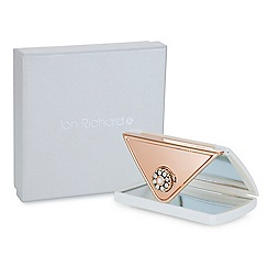 Jon Richard - Cream crystal envelope compact mirror MADE WITH SWAROVSKI CRYSTALS