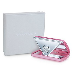 Jon Richard - Pink crystal envelope compact mirror MADE WITH SWAROVSKI CRYSTALS