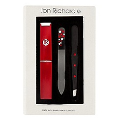 Jon Richard - Red tweezer set MADE WITH SWAROVSKI CRYSTALS