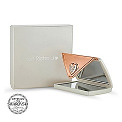 Jon Richard - Cream envelope compact MADE WITH SWAROVSKI CRYSTALS
