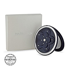 Jon Richard - Navy floral compact MADE WITH SWAROVSKI CRYSTALS