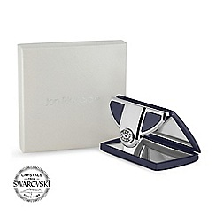 Jon Richard - Navy envelope compact MADE WITH SWAROVSKI CRYSTALS