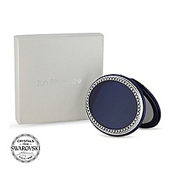 Jon Richard - Navy oval compact MADE WITH SWAROVSKI CRYSTALS