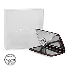 Jon Richard - Plum envelope compact mirror MADE WITH SWAROVSKI CRYSTALS