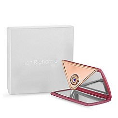 Jon Richard - Pink envelope compact mirror MADE WITH SWAROVSKI CRYSTALS