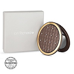 Jon Richard - Bronze quilted compact mirror MADE WITH SWAROVSKI CRYSTALS