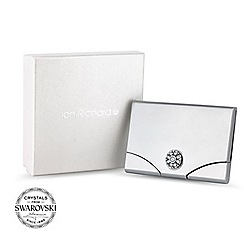 Jon Richard - Silver card holder MADE WITH SWAROVSKI CRYSTALS