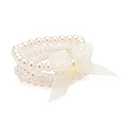 Jon Richard - Pearl bracelet set with ribbon