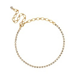 Jon Richard - Gold diamante crystal choker necklace