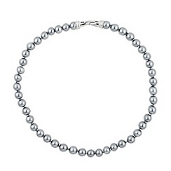 Jon Richard - Cool grey pearl chain necklace