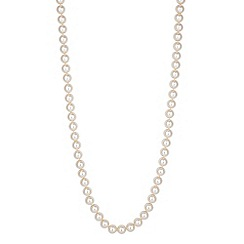 Jon Richard - Cream pearl gold clasped necklace
