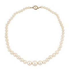 Jon Richard - Graduated cream pearl necklace