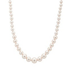 Jon Richard - Pink graduated pearl necklace